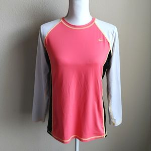 Nike Long Sleeve Fitted Athletic Top